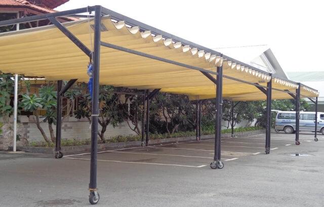 mái xếp nhà xe